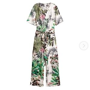 H&M Jungle Print Jumpsuit